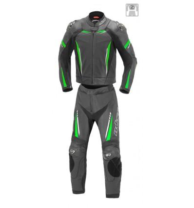 Büse Imola férfi kétrészes bőrruha zöld