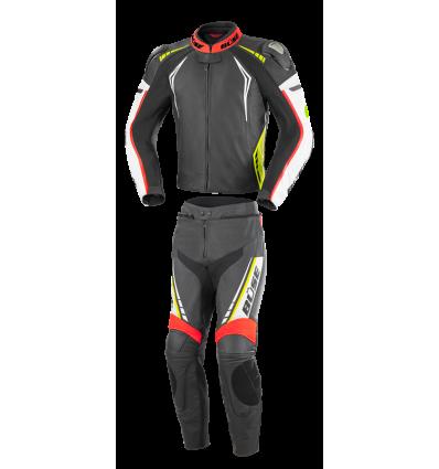 Büse Silverstone Pro kétrészes női bőrruha neonsárga/neonpiros