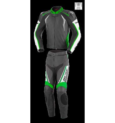 Büse Silverstone Pro kétrészes női bőrruha zöld