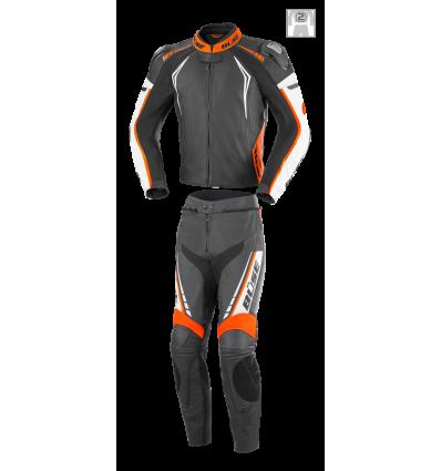 Büse Silverstone Pro kétrészes női bőrruha narancssárga