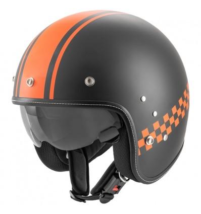 Rocc Classic Pro TT nyitott sisak fekete/narancssárga