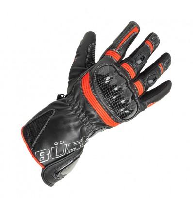 Büse Misano sportkesztyű fekete/neonpiros