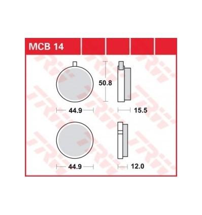 Fékbetét Lucas MCB014