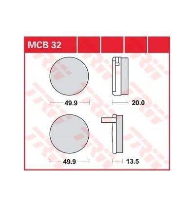 Fékbetét Lucas MCB032
