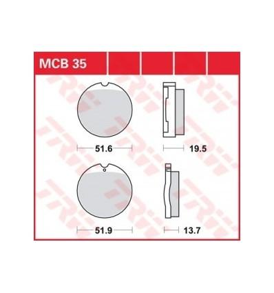 Fékbetét Lucas MCB035