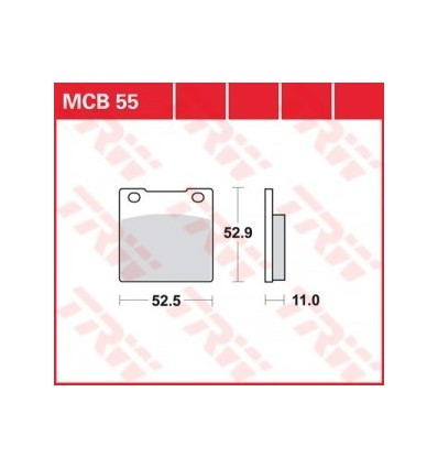 Fékbetét Lucas MCB054