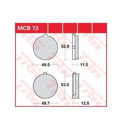 Fékbetét Lucas MCB072