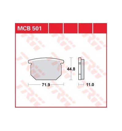 Fékbetét Lucas MCB501