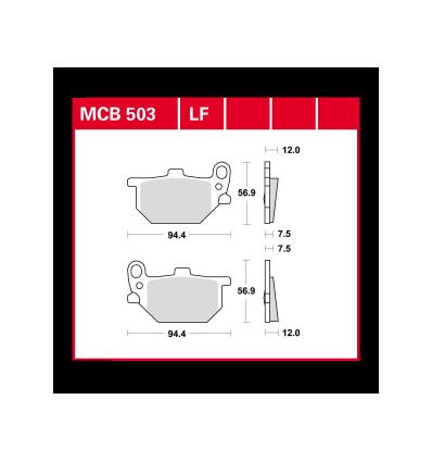 Fékbetét Lucas MCB503
