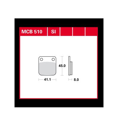 Fékbetét Lucas MCB510SI