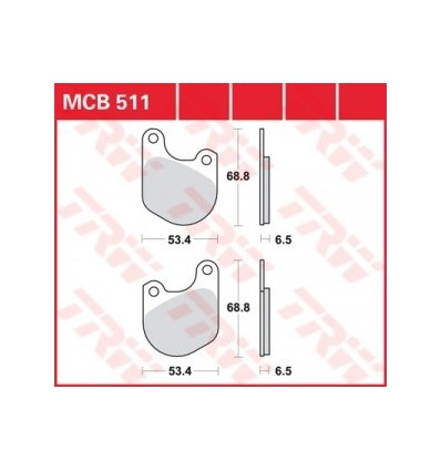 Fékbetét Lucas MCB511
