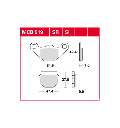 Fékbetét Lucas MCB519SI