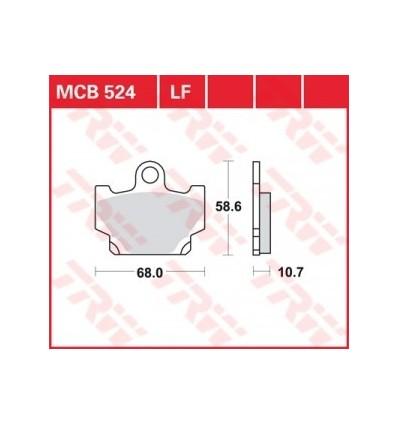 Fékbetét Lucas MCB524