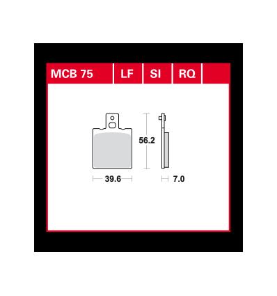 Fékbetét Lucas MCB075SI