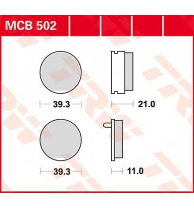 Fékbetét Lucas MCB502